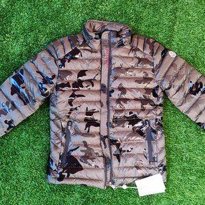 Moncler Green Camo Men Casual Puffer Zipup Jacket